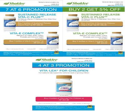 Vita-C, Vita-E, Promosi, Produk SHAKLEE, Pengedar Shaklee Kuantan,
