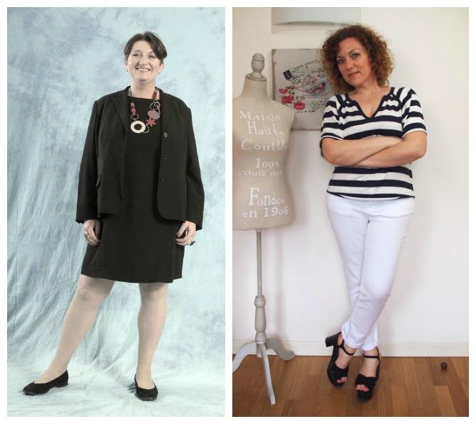 outfit curvy/plus size in tema bianco e nero, Consuelo e Alessandra