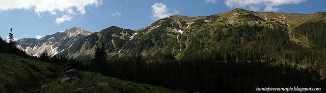 panorama, Starorobociańska Dolina, Tatry Zachodnie, Tatry, widok