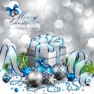 クリスマス ボールで飾ったリボンの美しいギフト ボックス beautiful christmas background イラスト素材