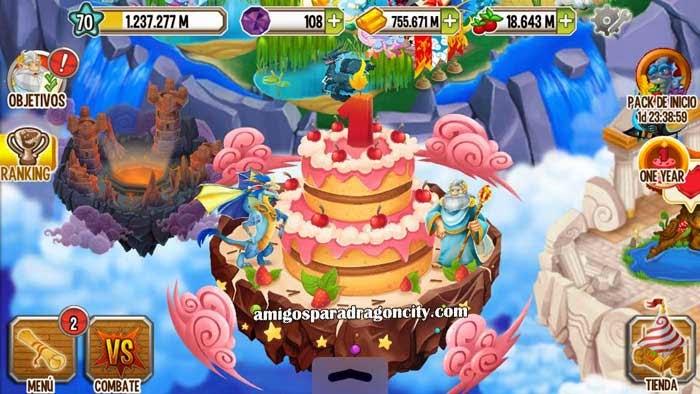 imagen de la isla aniversario de dragon city ios