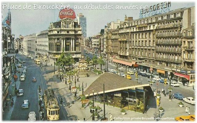 Place de Brouckère au début des années 60 (après l'Expo 58) - Bruxelles-Bruxellons