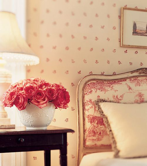 Bedroom Decorating Ideas Totally Toile: Eye For Design: Decorating With Red Toile