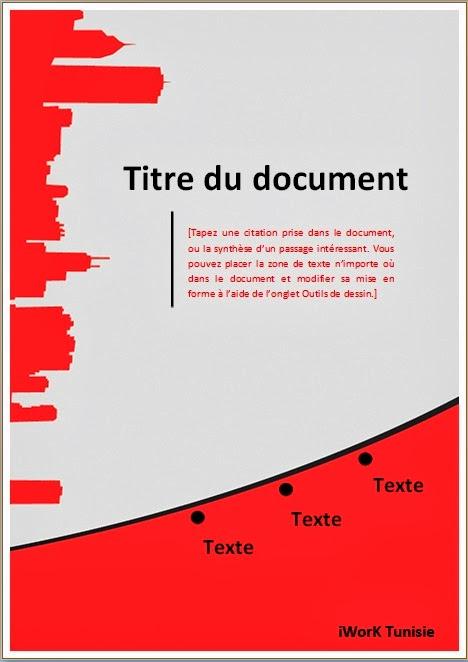 mod u00e8les de pages de garde  pfe  m u00e9moire  rapport de stage  docx