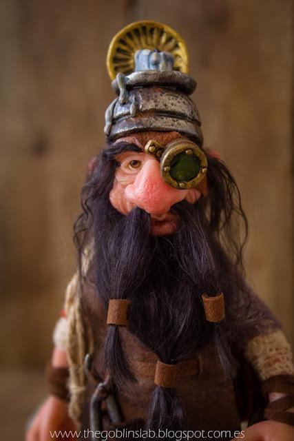 ooak fantasy doll lucky dwarf pet