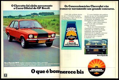 propaganda Chevette GP II - Chevrolet - 1976. reclame de carros anos 70. brazilian advertising cars in the 70. os anos 70. história da década de 70; Brazil in the 70s; propaganda carros anos 70; Oswaldo Hernandez;