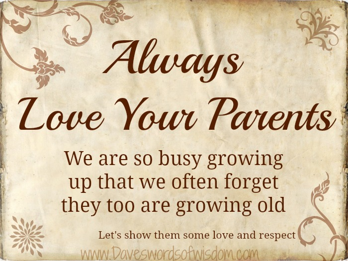 Parents Love Quotes : Love Your Parents Quotes. QuotesGram