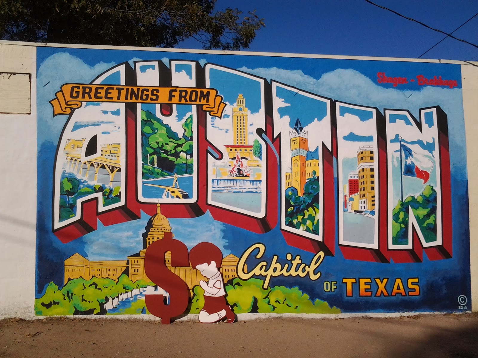 Austin front greetings from austin mural new message rumors are south austin artist p allegedly did the timely touch up see a few years back before east austin became the secret not anymore cheap rent for kristyandbryce Choice Image