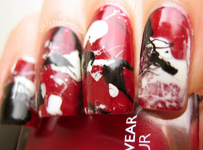 Splatter mani with M&S Autograph Ultimate Wear Bordeaux