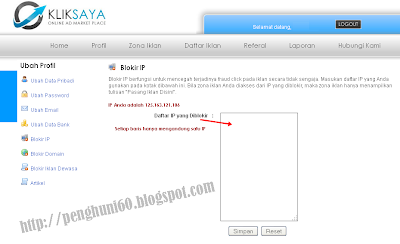 Fitur Blokir IP