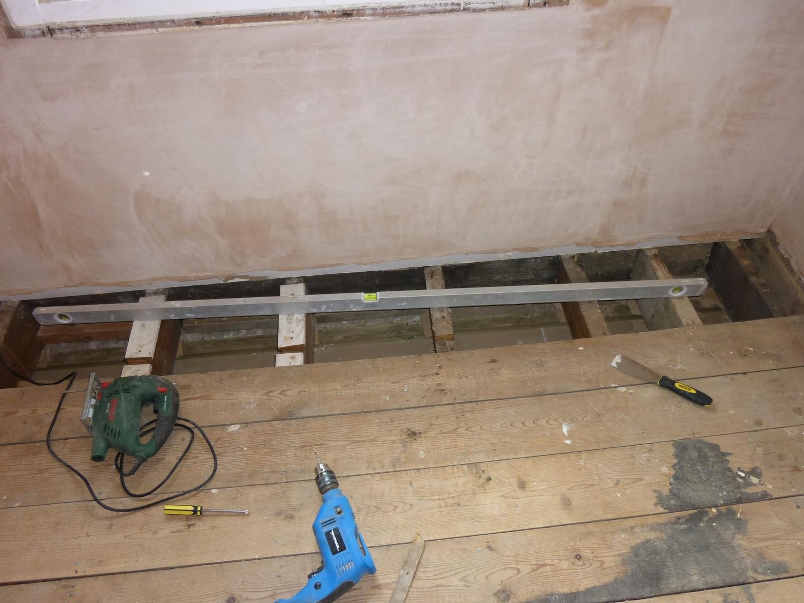 Warped floor joists
