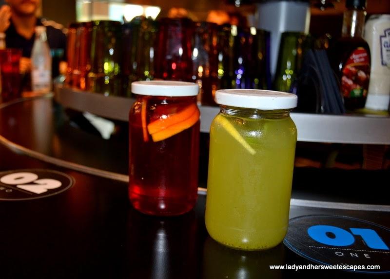 Rogo's beverages in mason jars