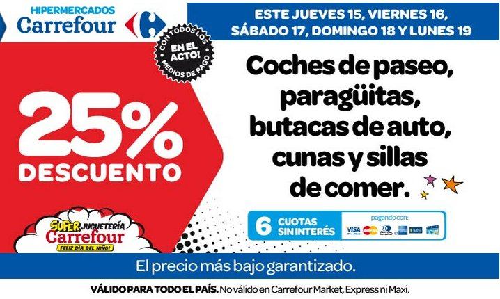 promo bebes y mamas ofertas carrefour d a del ni o. Black Bedroom Furniture Sets. Home Design Ideas