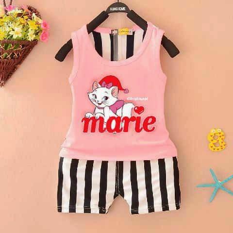 Setelan Anak Marie Cat - Baju Apinigo - Baju Apinigo - Harga Saudara