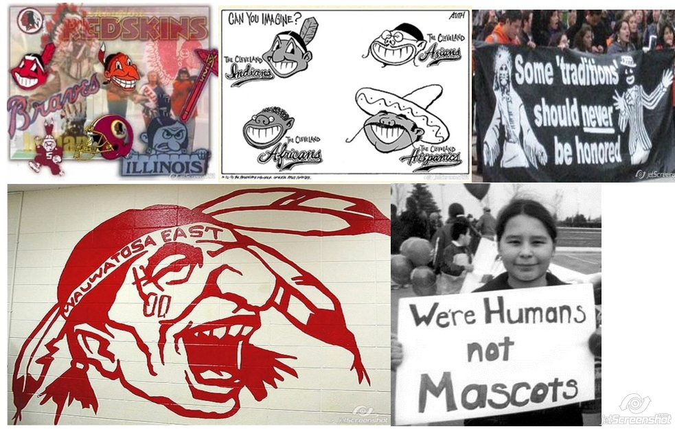racist mascots in america Is it offensive for sports teams to use the names of native american tribes  and apply it to present-day america  if it's a racist joke,.
