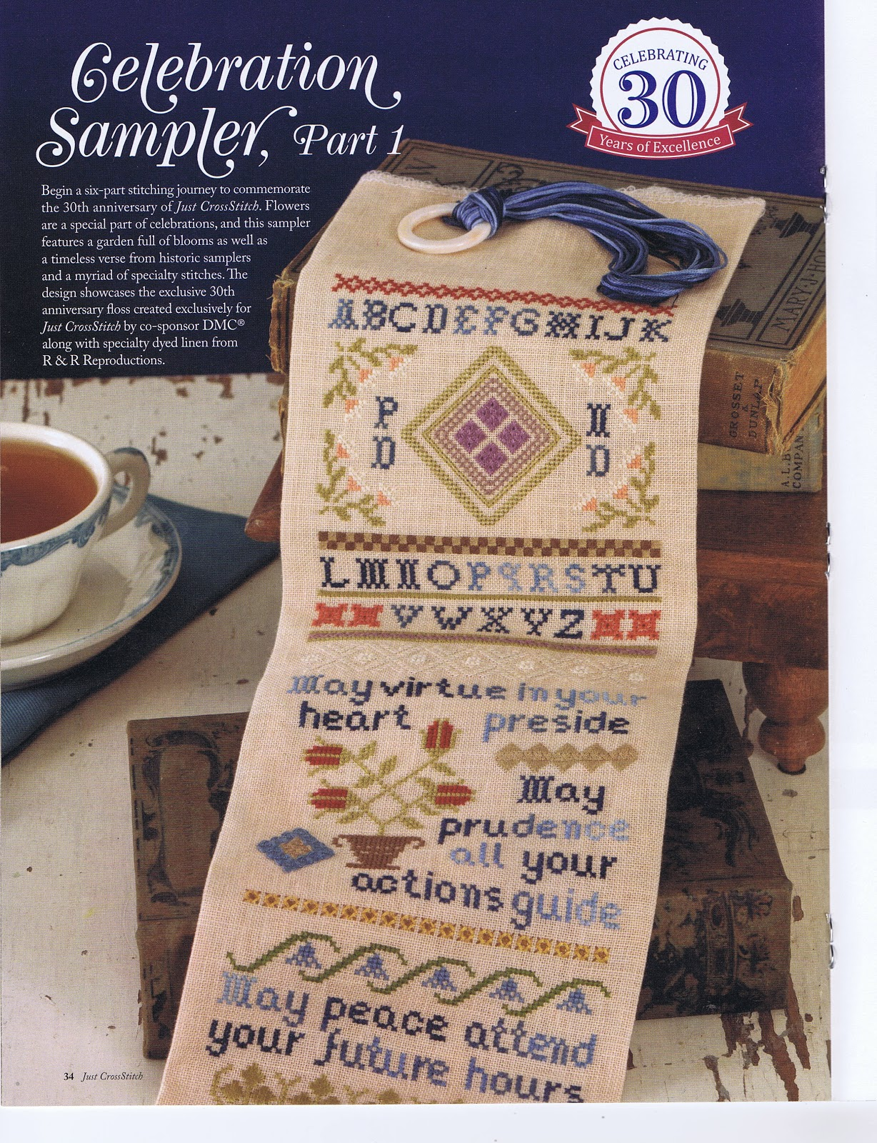 The Stitch and Frame Shop: 30th Anniversary for Just Cross Stitch