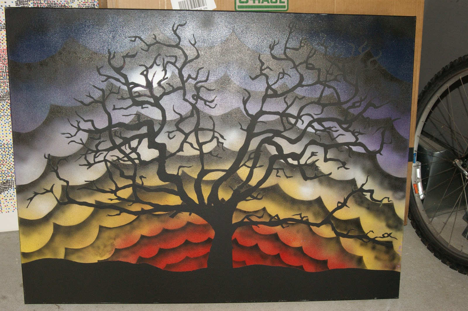 tree stencils for painting