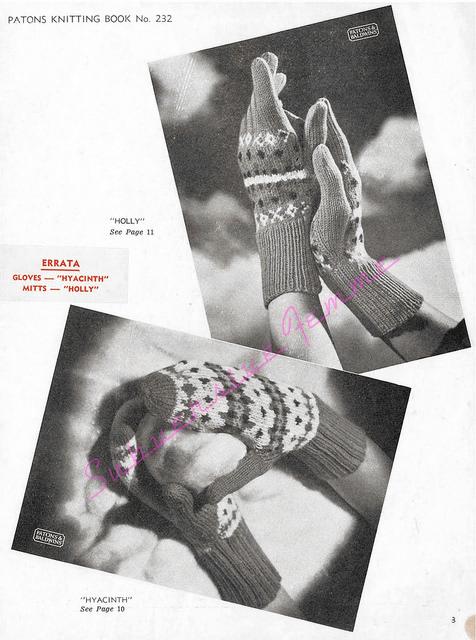The Vintage Pattern Files - Free 1930's Knitting Pattern - Patons Knitting Book No. 232