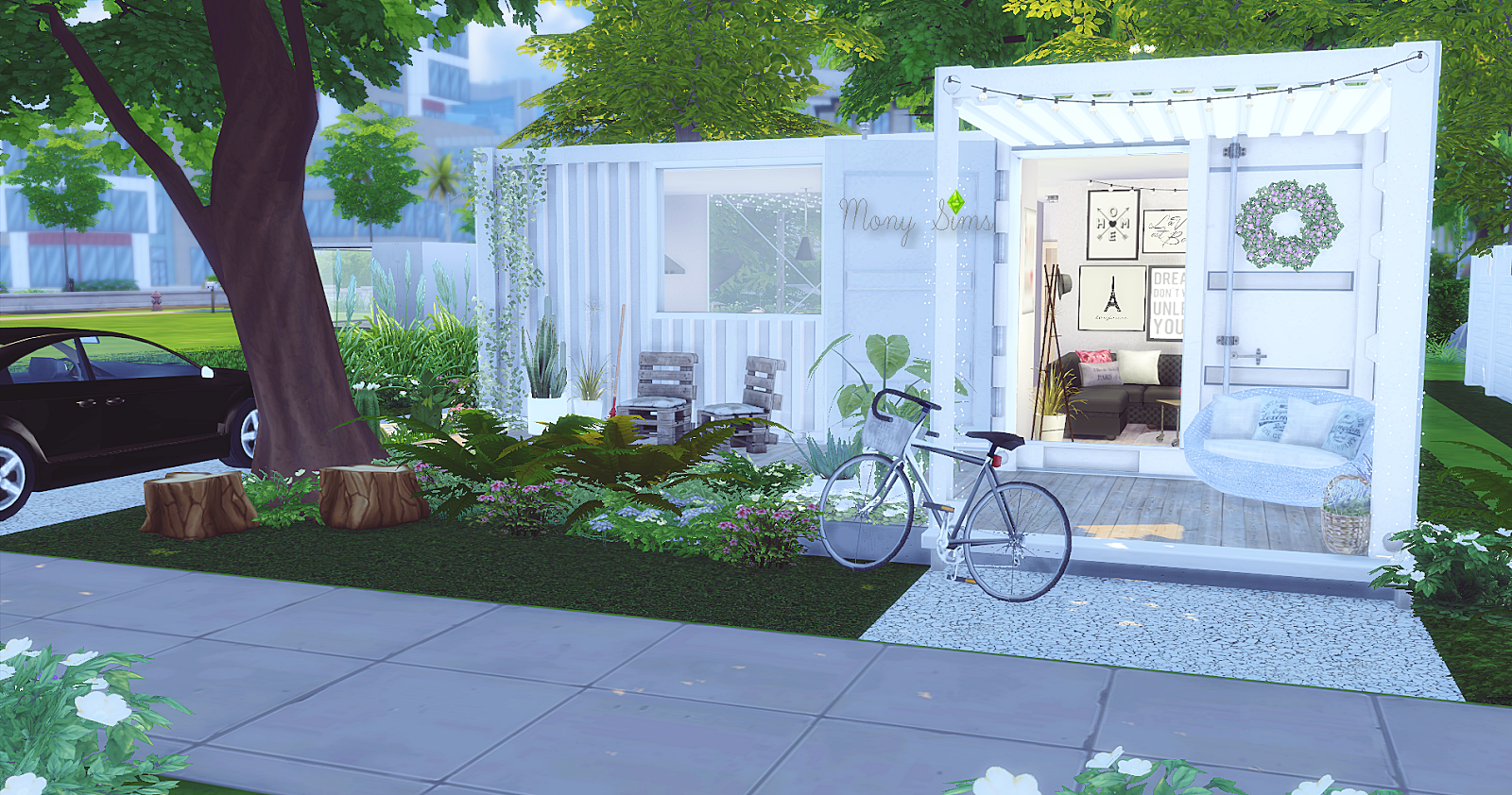 My sims 4 blog the cute container house by monysims for Small minimalist home