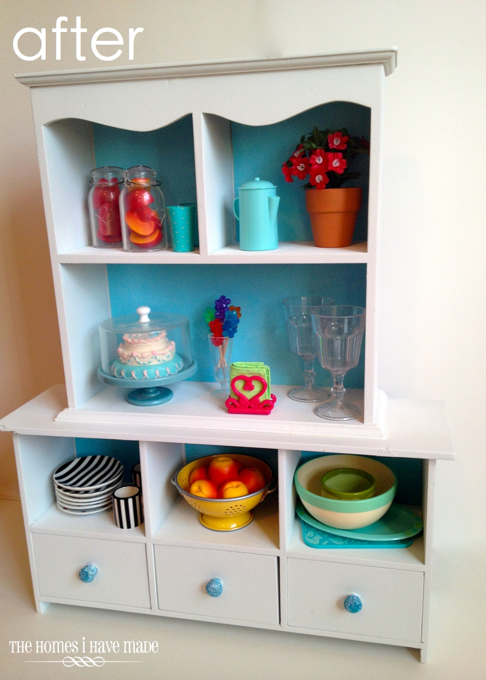 Diy Doll Furniture. A Doll Sized China Hutch   (mini) Furniture Makeover
