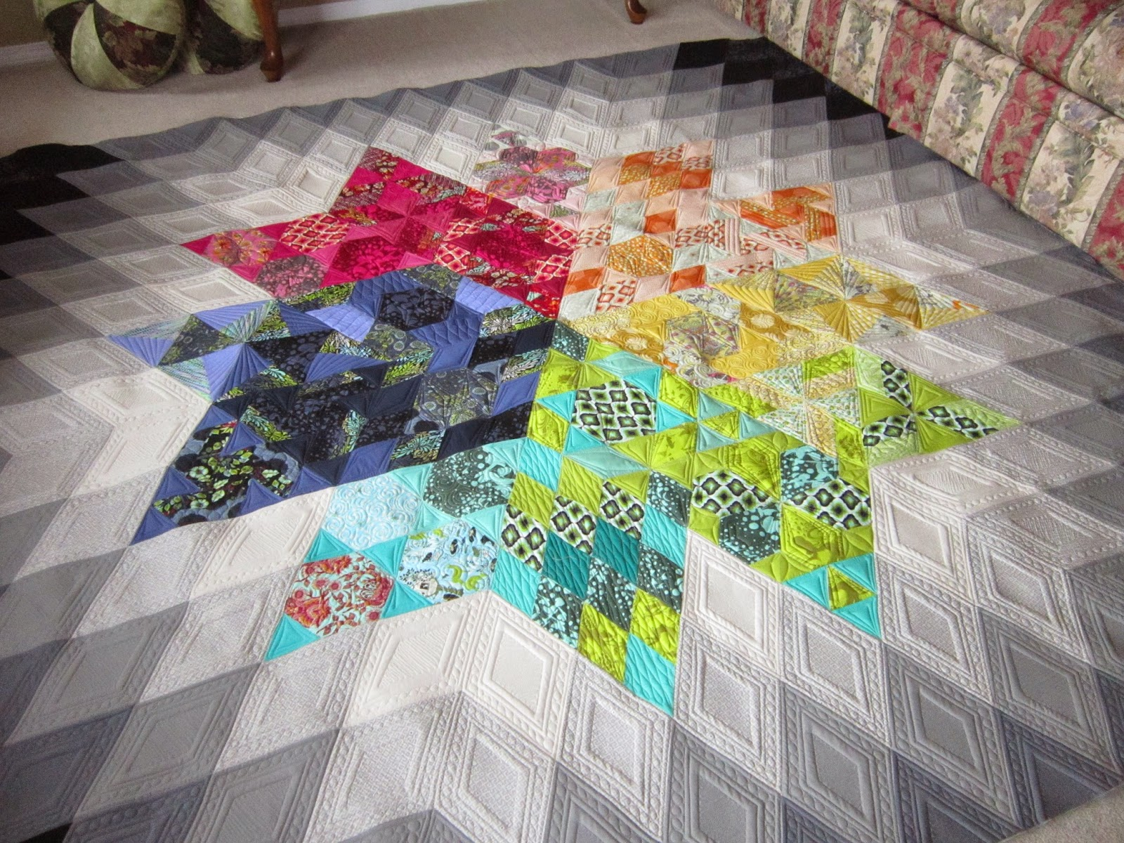 Quilting is my bliss gravity quilt one of my own for Gravity fabric