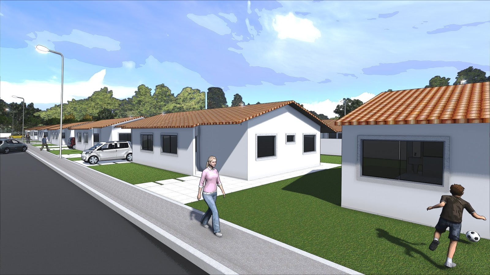 48 m² metros dois quantos salas cozinha e banheiro #064DC5 1600 900