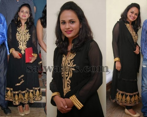 Sheetal Shetty in Black Churidar