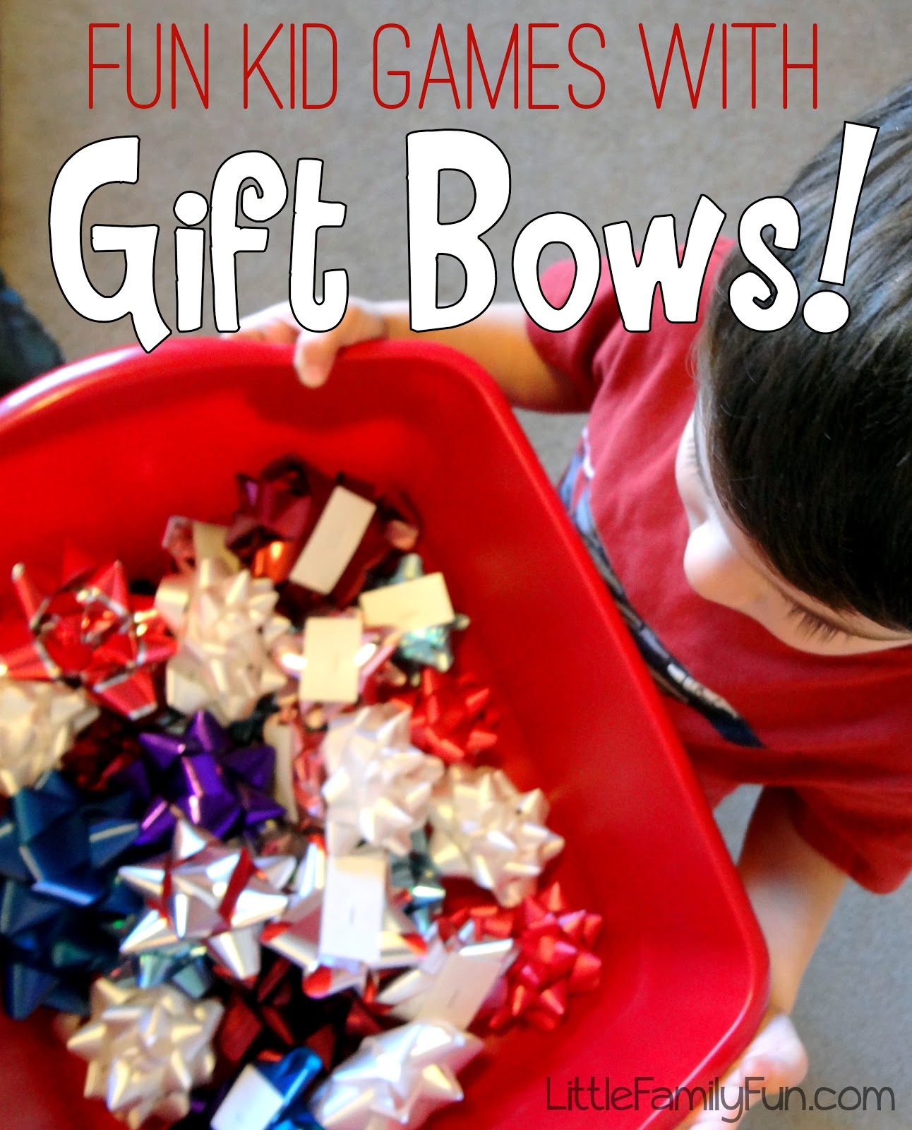 Family Christmas Party Game Ideas Part - 49: Christmas Games With Bows!