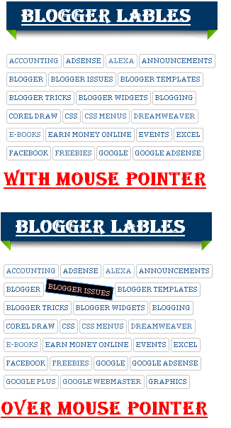beautiful CSS Label blogger