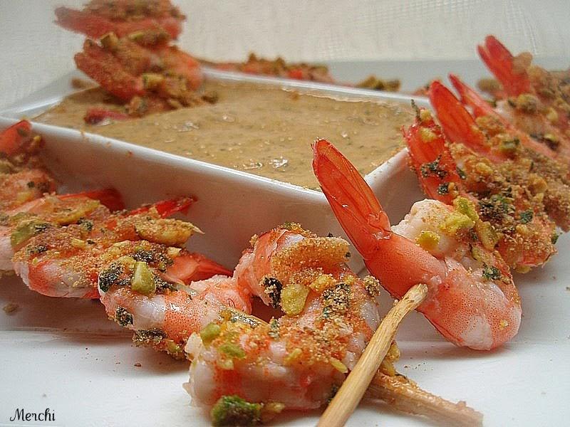 Cocina para todo variedad de brochetas - Brocheta de langostinos y bacon ...
