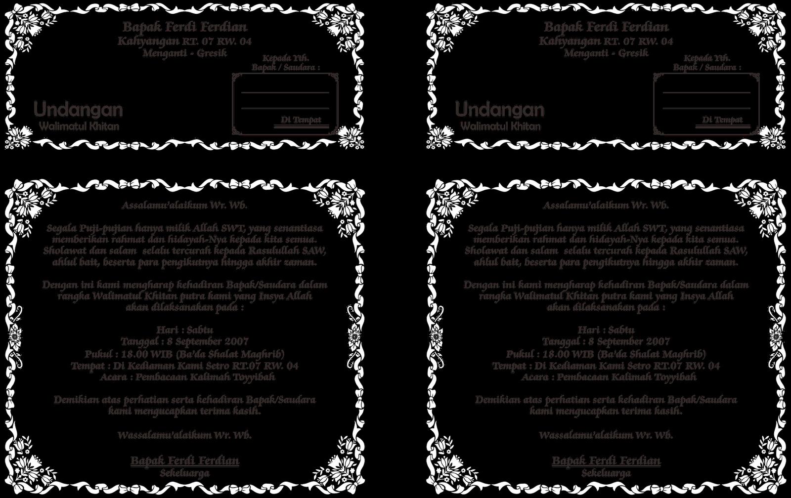 contoh gambar undangan walimatul khitan download format coreldraw via ...