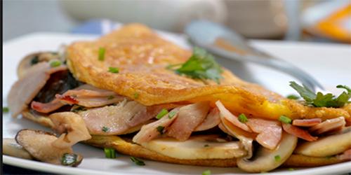 Omelette de Champiñones y Jamon