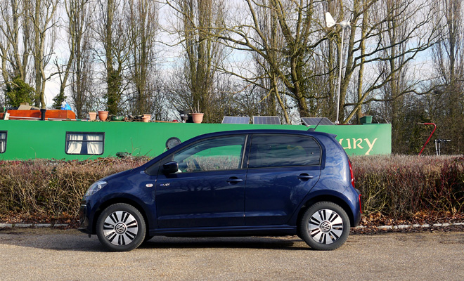 Volkswagen e-Up side view