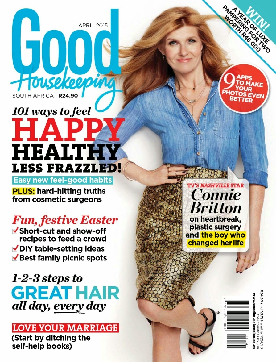 Actress @ Connie Britton - Good Housekeeping South Africa, April 2015