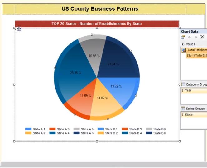 Custom report write based on pie chart