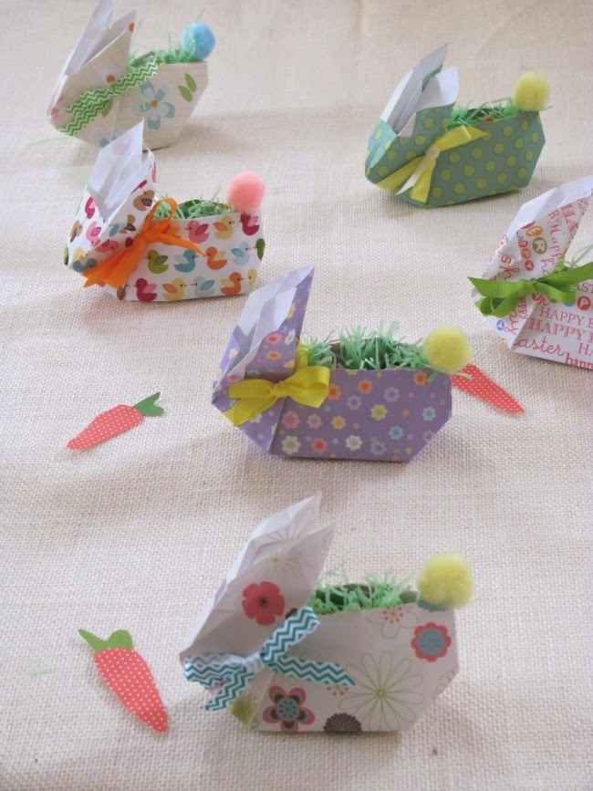 Cuter than Cute Easter Paper Bunnies Crafts a la mode