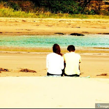sad, couple, beach