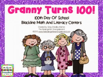 https://www.teacherspayteachers.com/Product/100th-Day-Of-School-Math-And-Literacy-Centers-Granny-Turns-100-1647029