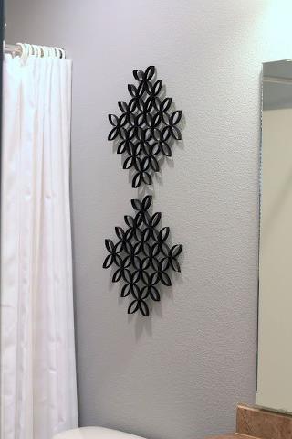 Ideas brillantes para el hogar decoracion mural con conos for Murales de papel para pared