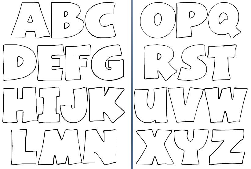Moldes letras foami para imprimir - Imagui