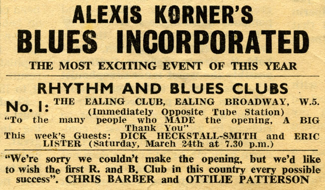 Alexis Korners Blues Inc I Need Your Loving Please Please Please Please