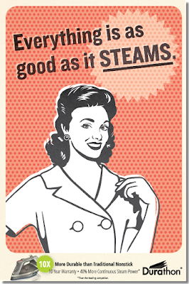 hamilton beach durathon steam iron how to turn