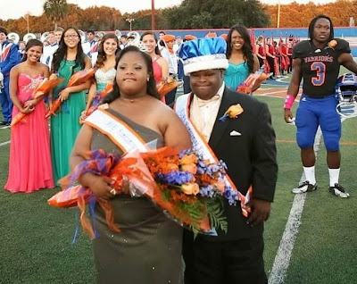 Down Syndrome Teens Homecoming King and Queen