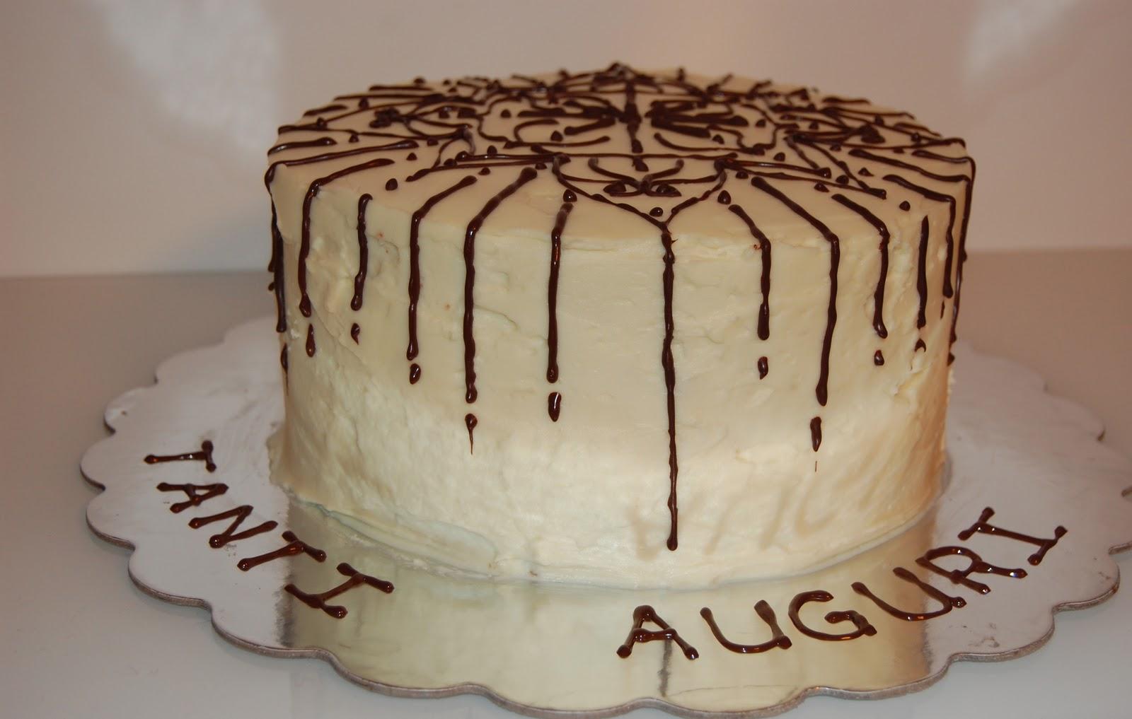 White Chocolate Birthday Cake With White Chocolate Cream Cheese