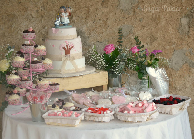 candy bar boda dulces chucherías cupcakes galletas tarta