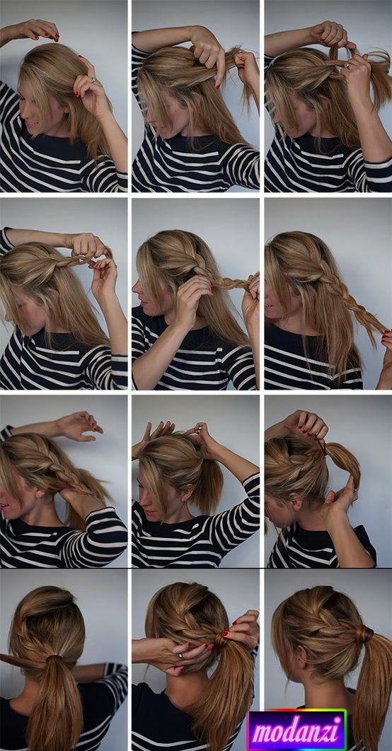 Örgü At Kuyruğu Saç Modeli Nasıl Yapılır ? (Resimli Anlatım)