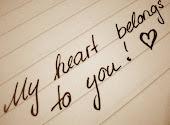 Eres el propietario de mi corazon.