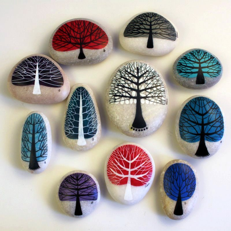 Painted Pebbles Design Ideas Art Crafts Projects