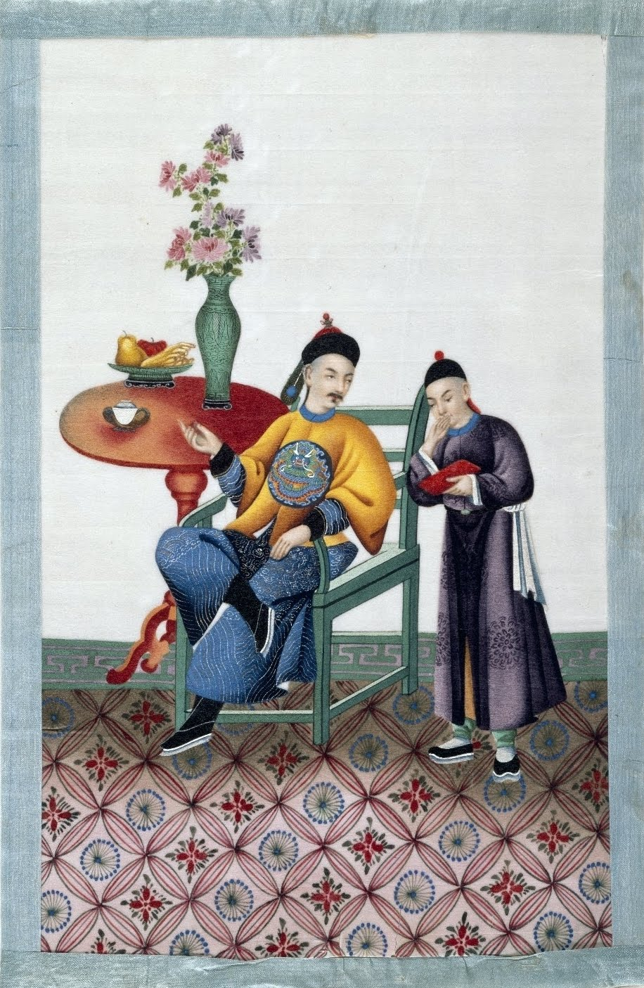 nobility scene in 19th century China