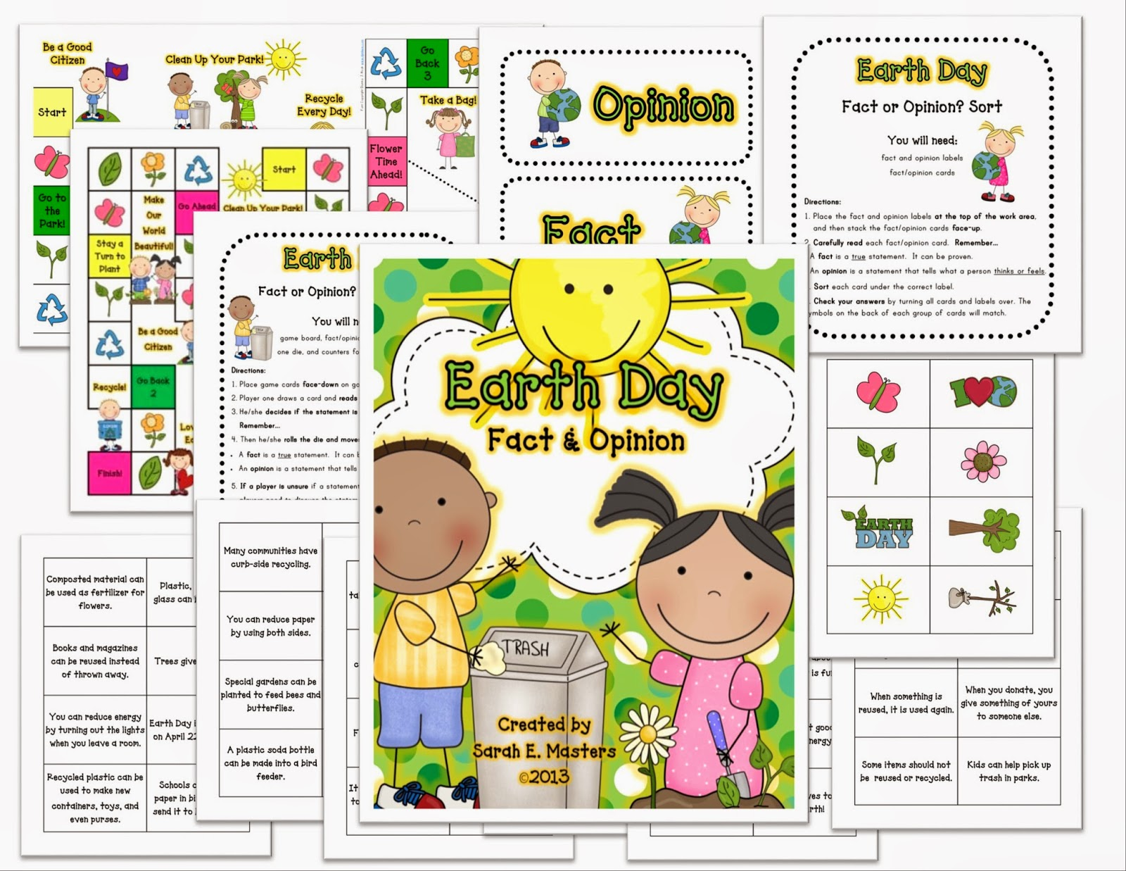 http://www.teacherspayteachers.com/Product/Earth-Day-Fact-Opinion-Game-and-Sorting-Learning-Center-1174846